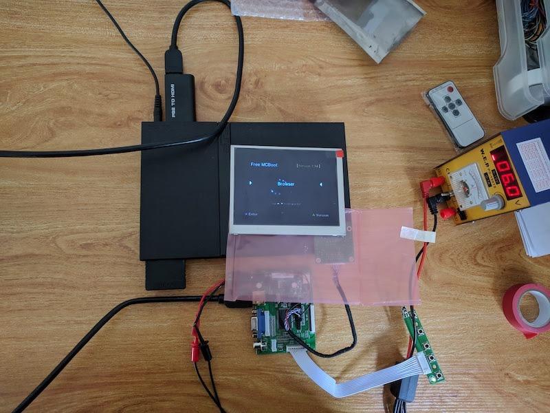 Màn hình DIY cầm tay PS2