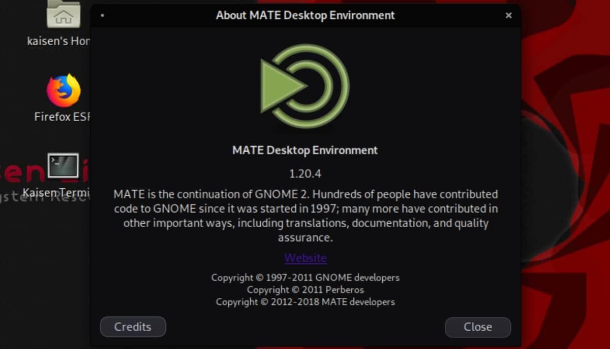 môi trường máy tính để bàn kaisen inux mate